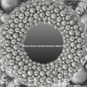 Image of  Reflections Silver Holiday Wreath