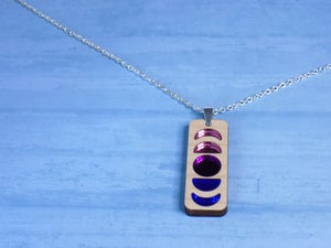 Bisexual Pride Moon Phase Necklace