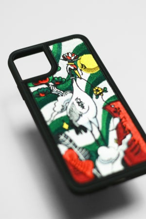 Image of Humming Crane Embroidered iPhone Case