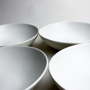 Image of set of four pasta bowls, eggshell