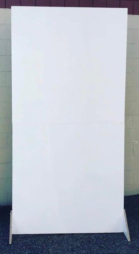 White wall backdrop