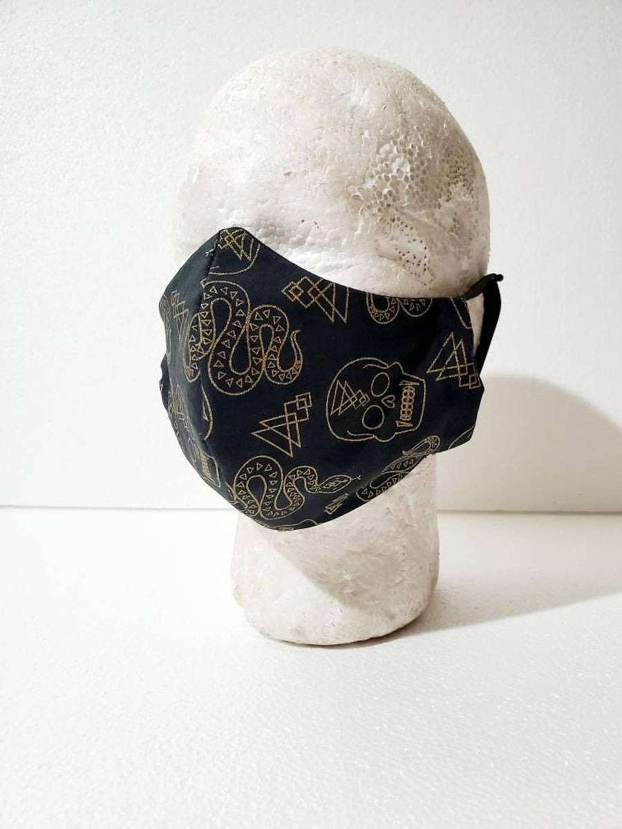 Image of Halloween Snake/Skull Face Mask