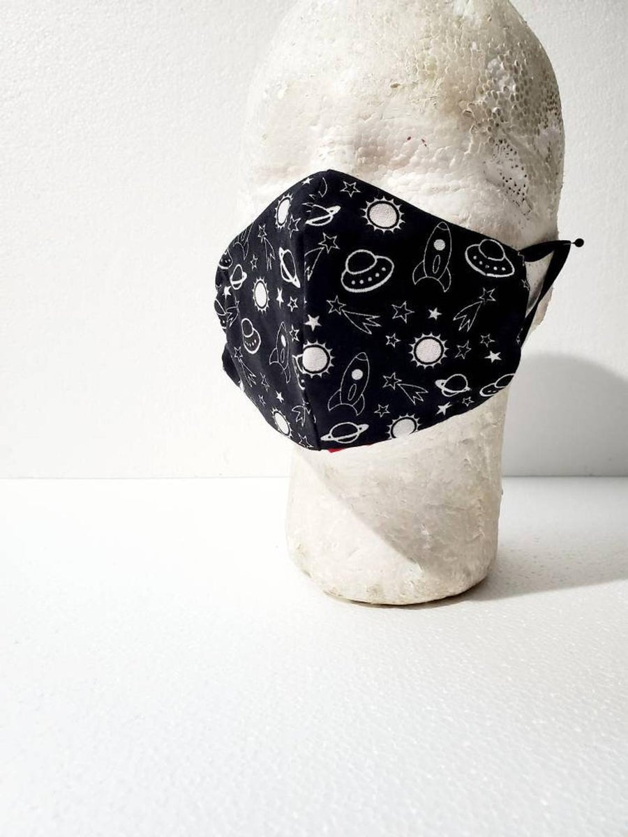 Image of Outter Space Fitted Kids Face Mask