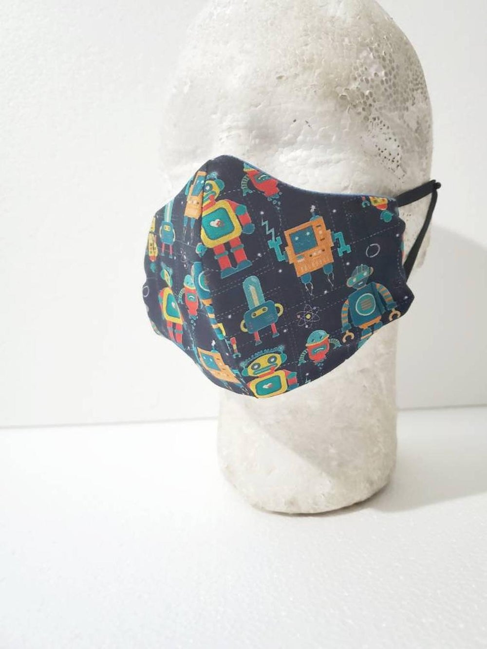 Image of Robot Kids Fitted Face Mask