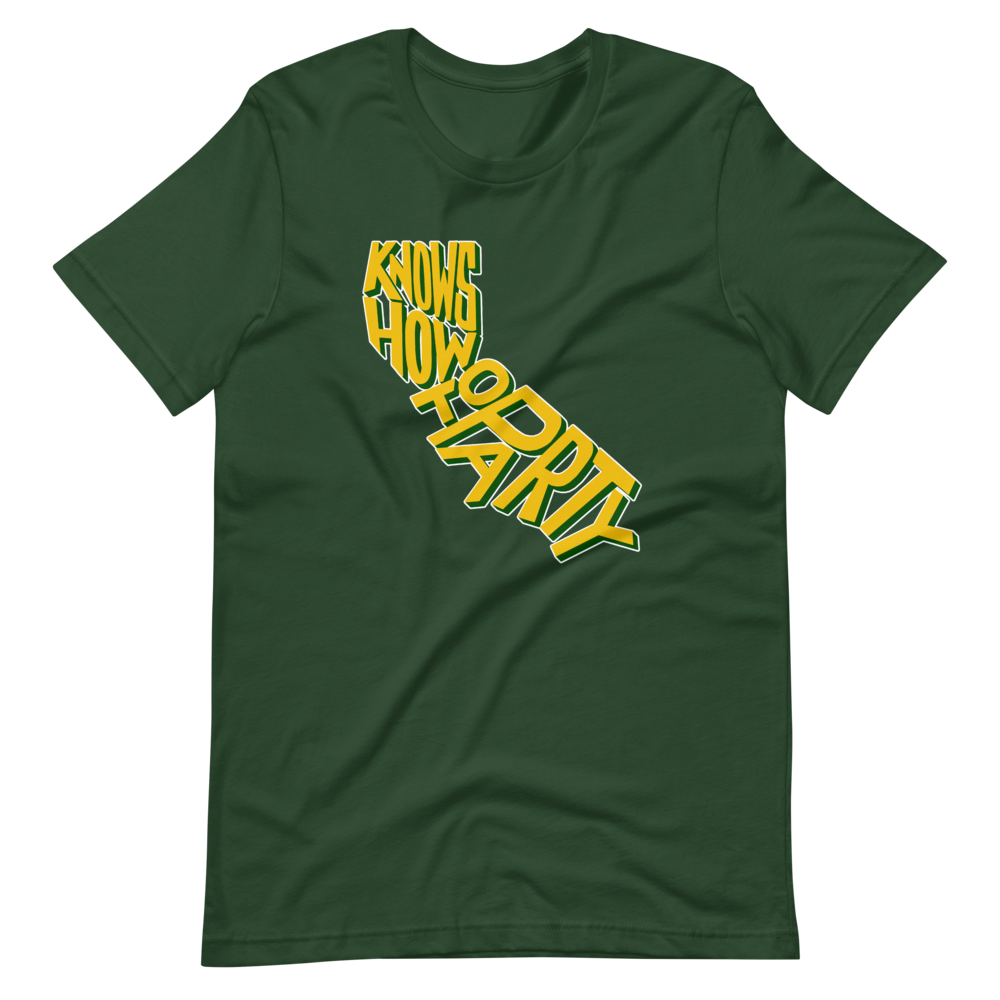 Image of KNOWS HOW TO PARTY - GREEN TEE