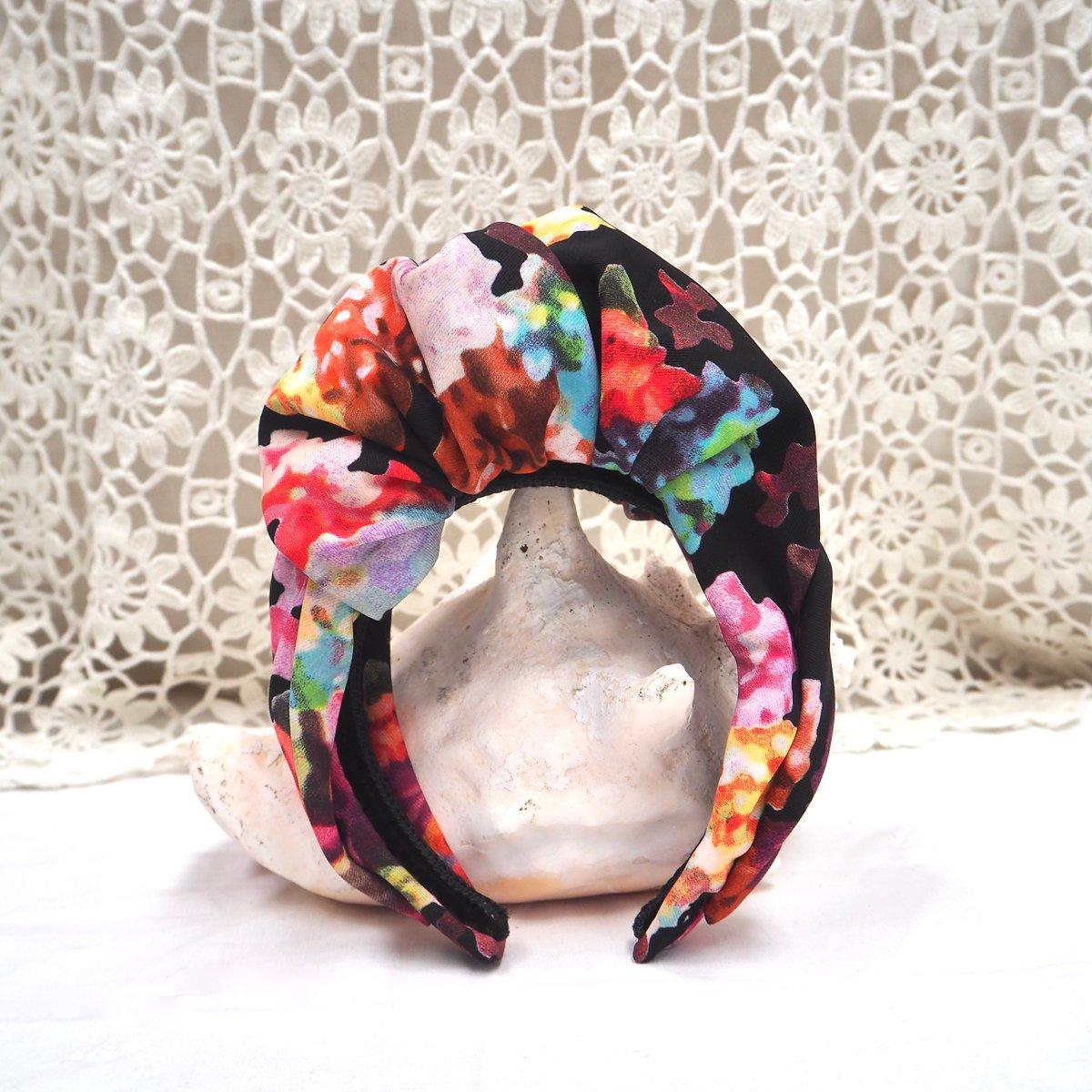 Serre tête façon turban motif watercolor