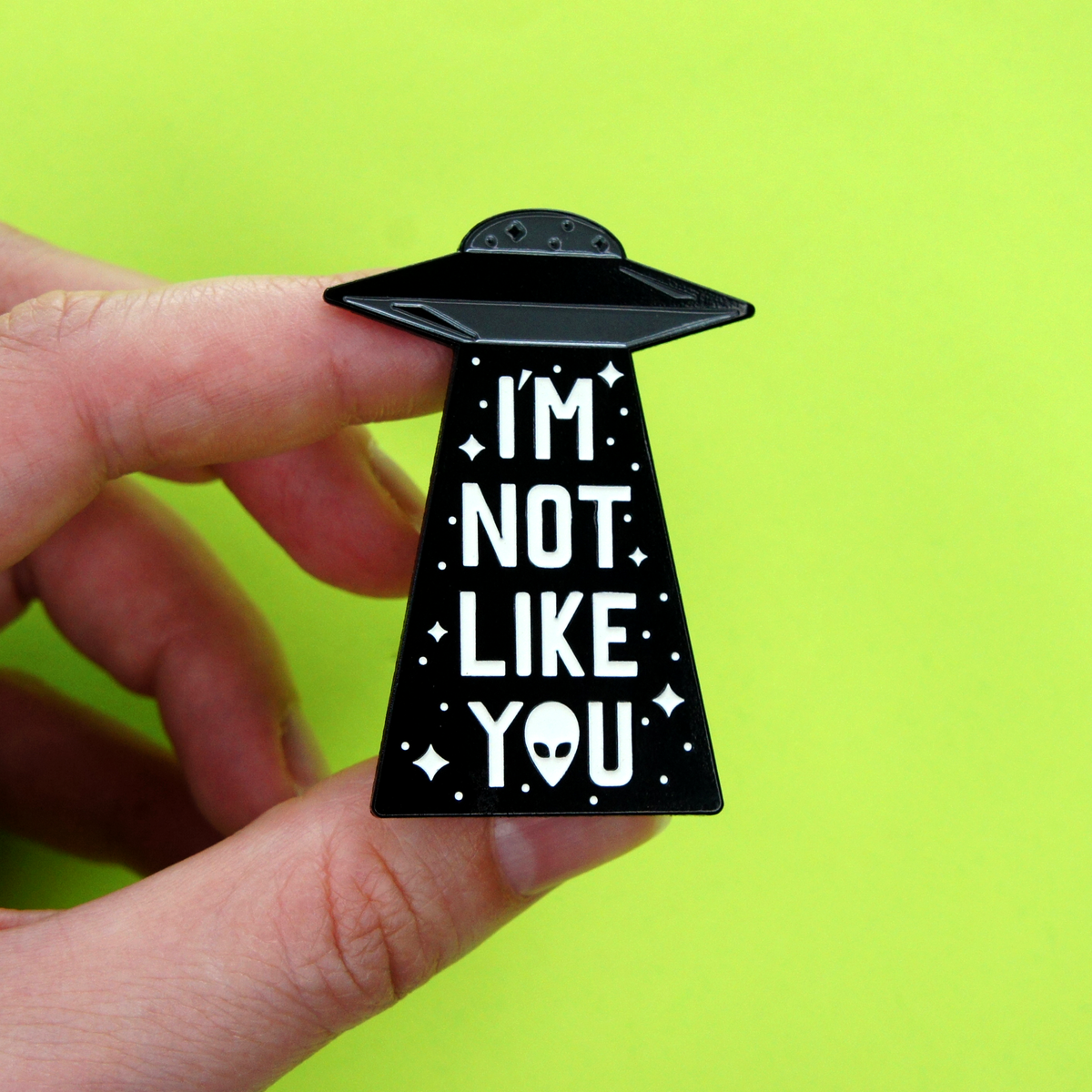 Single UFO Enamel Pin