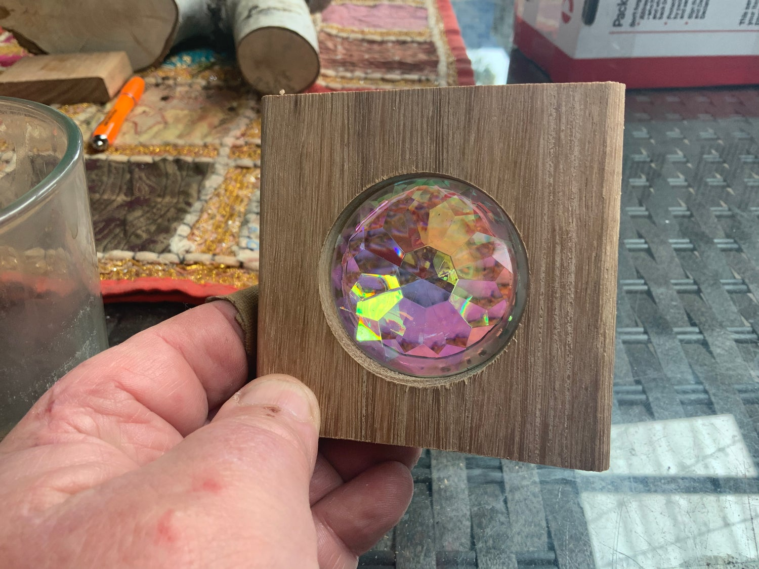 Image of Kaleidoscope Lenses in plantation wood (sold individually)