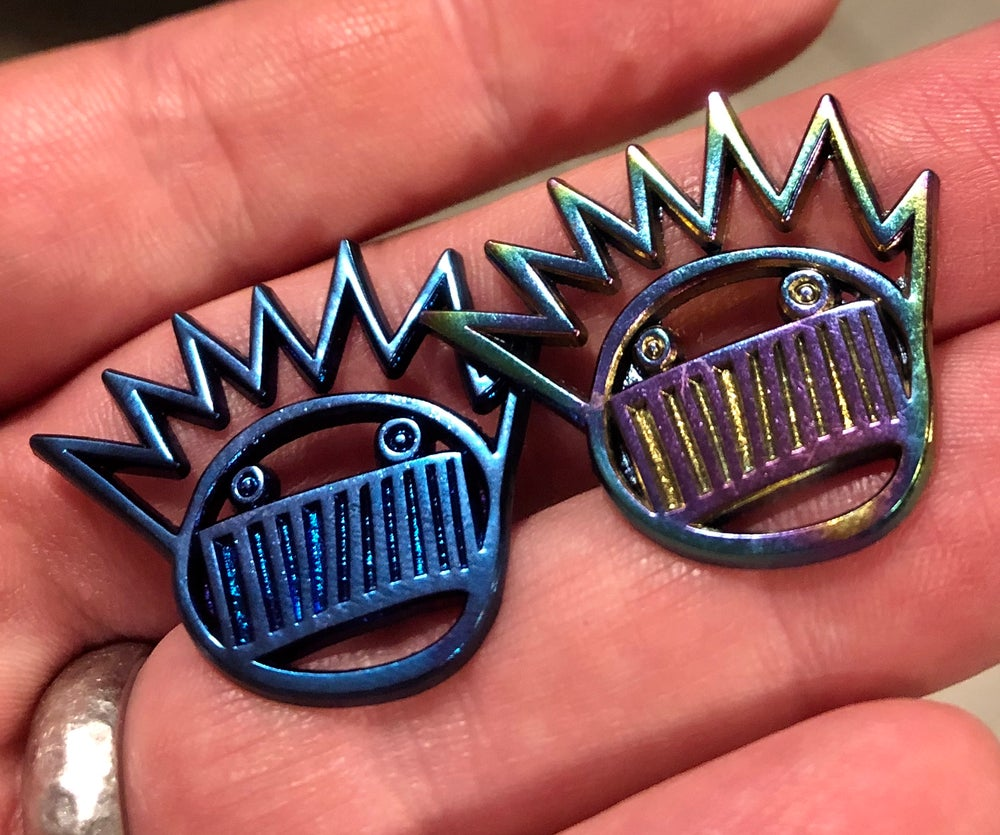 Image of Anodized cut-out Boognish pins