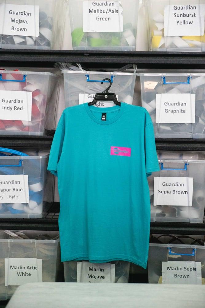 Image of Urban Malibu T-shirt - Teal/Pink