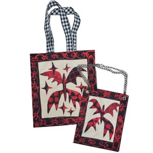 Scarlet Butterfly Tote