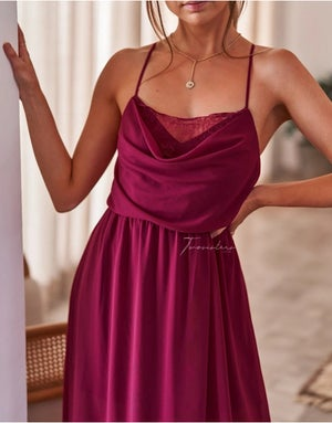 Image of Jaycee dress. Magenta. Two Sisters the Label.