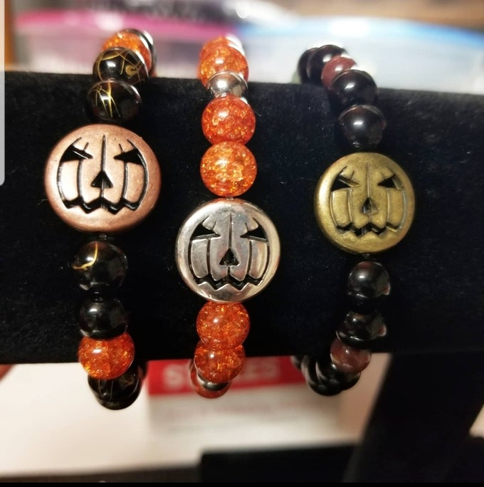 Image of Jack-o'-lantern Stretch Fit Bracelets