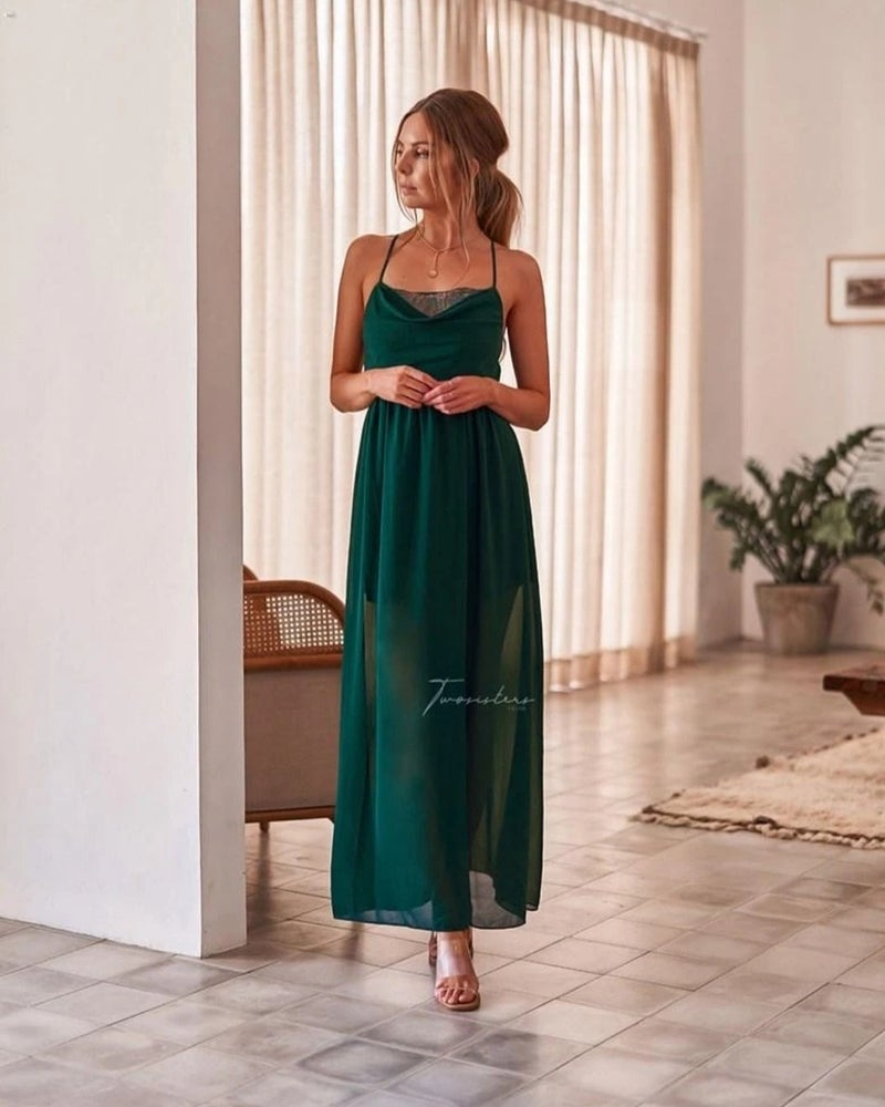 Image of Jaycee dress. Green. Two Sisters the Label.