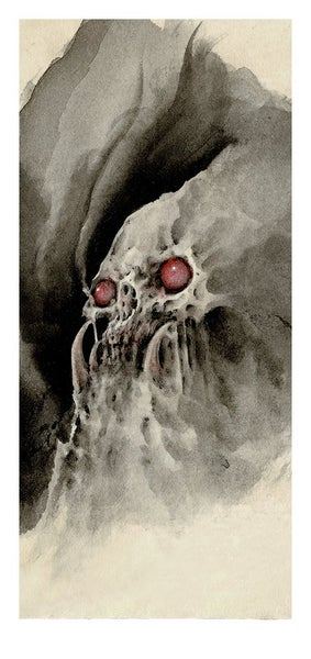 Image of Skull Print by Rachi