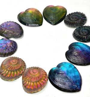 Glowing Resin Pairs~  5 Choices,  approx. 30 mm