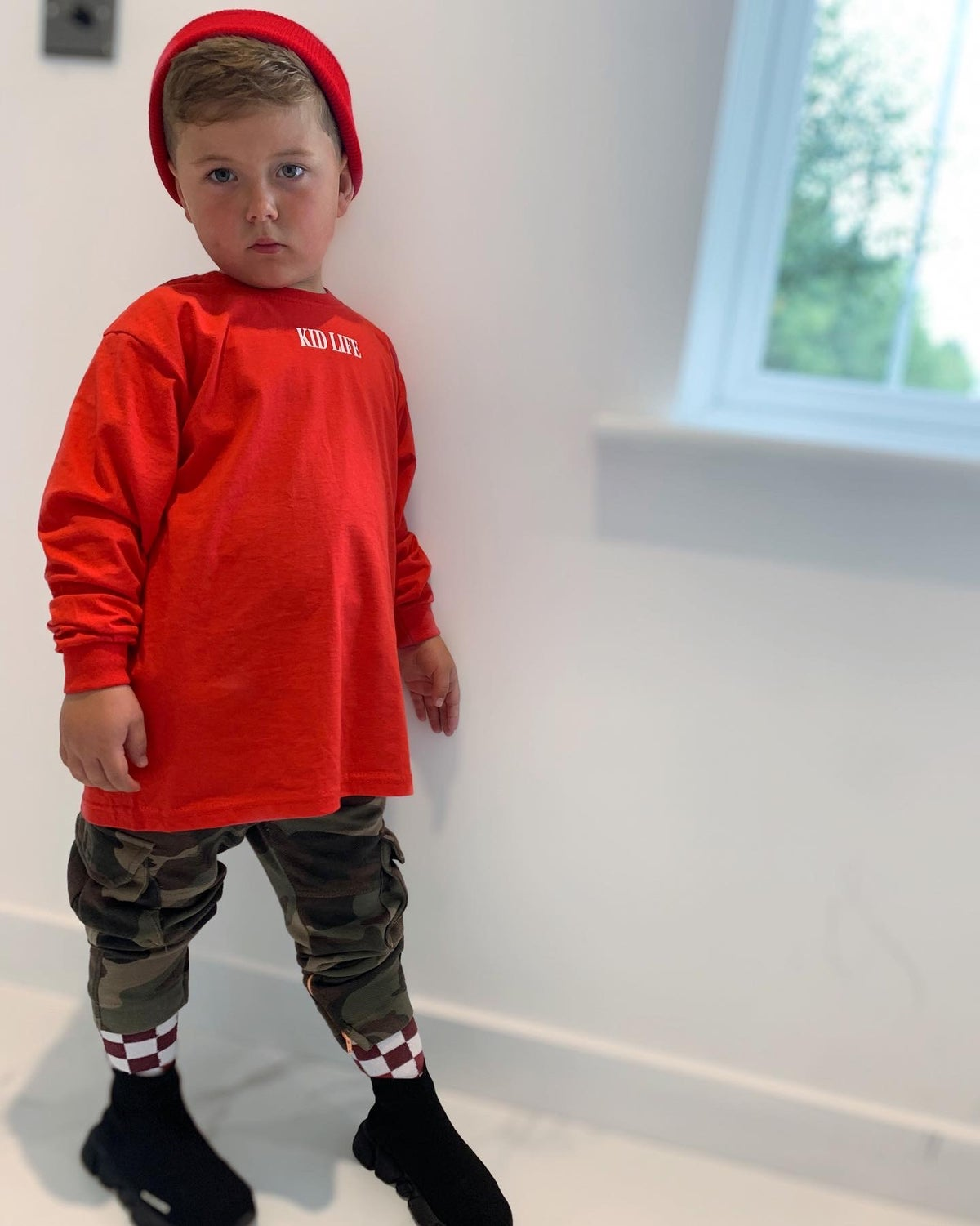 Image of Red Long Sleeve Kid Life Top