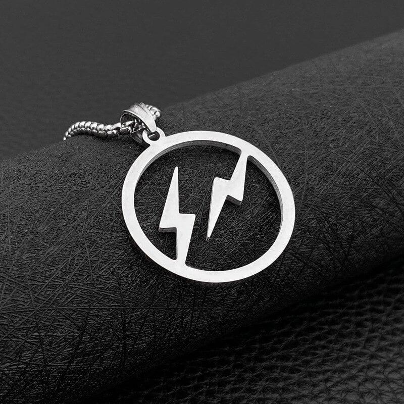 Lightning Bolts Pendant Necklace (Titanium Steel)