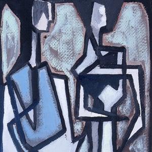 Image of Swedish Abstract Oil Painting SVEN JOHANSSON. (1911 -1986)
