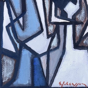 Image of Swedish Abstract Oil Painting SVEN JOHANSSON. (1911 -1986)