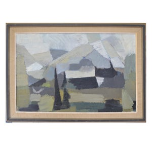 Image of 1959, Swedish Abstract Landscape Painting