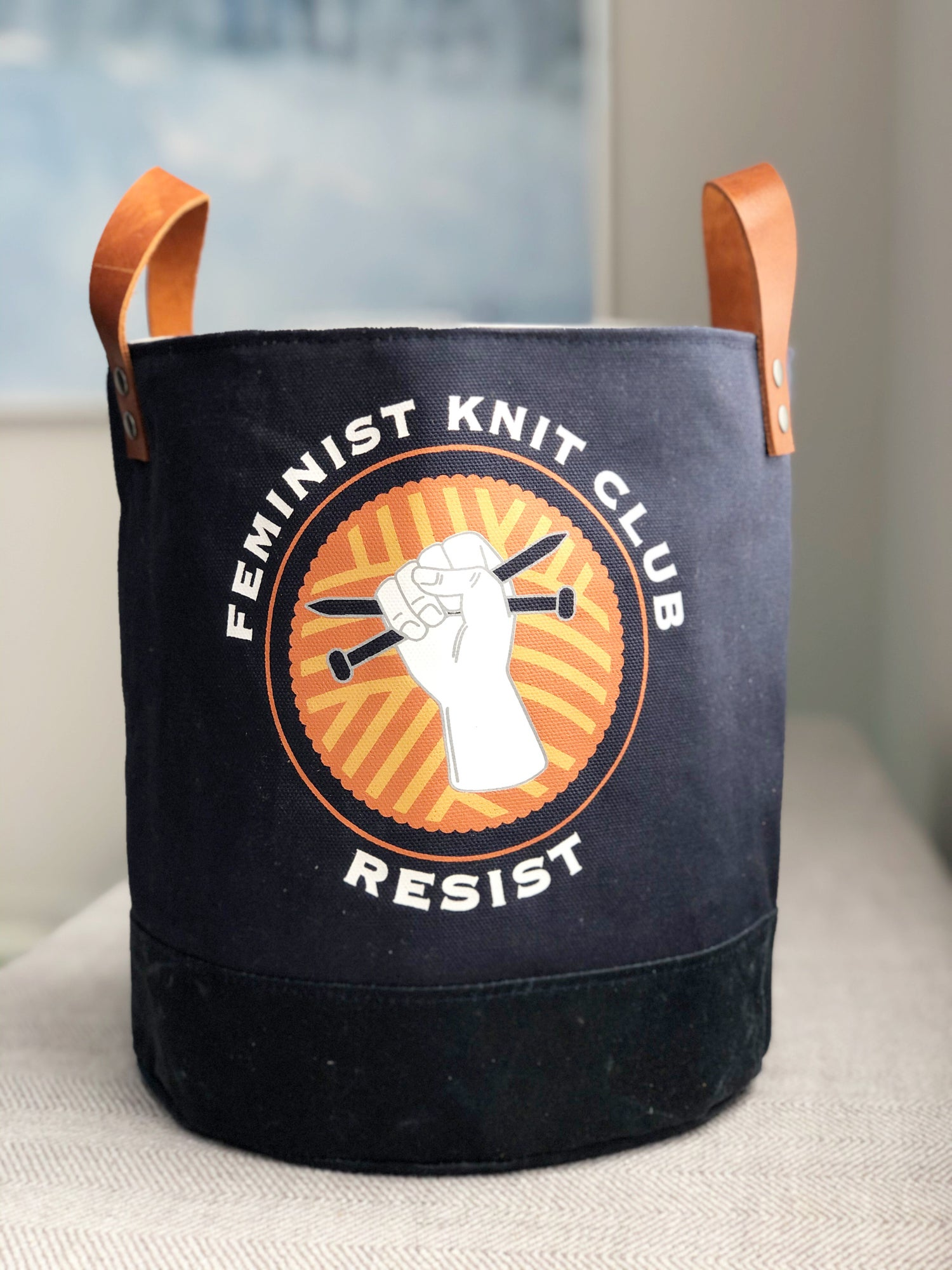 Image of Feminist Knit Club Bucket Tote