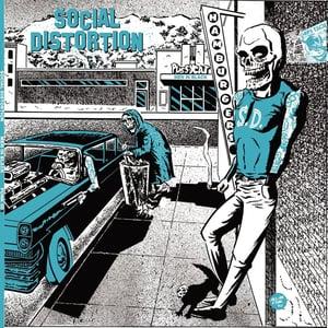 Image of LP. Social Distortion : Men In Black.   Ltd Edition, Blue Vinyl.