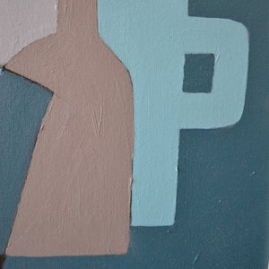 Image of Contemporary Painting, 'Still Life in Blue,' Marc Taylor.