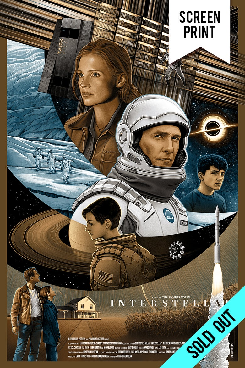 Image of *SOLD OUT* - INTERSTELLAR - SCREENPRINT - 24x36