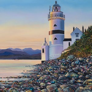 Image of Cloch lighthouse Giclee print