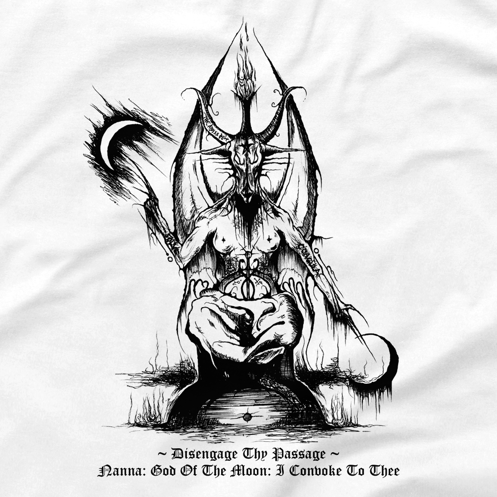 Image of ABSU - DISENGAGE THY PASSAGE - 1992 REPRODUCTION (FRONT & BACK PRINT) lll