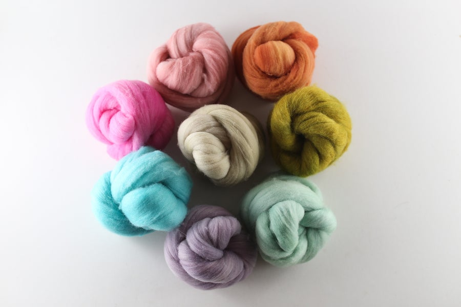 Image of Nestlets   Summer Swan Song   Semi-Solids   Mixed Fibers