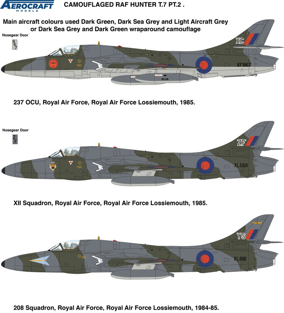 Image of Hawker Hunter T.7 conversion set for later RAF aircraft (Part 2)