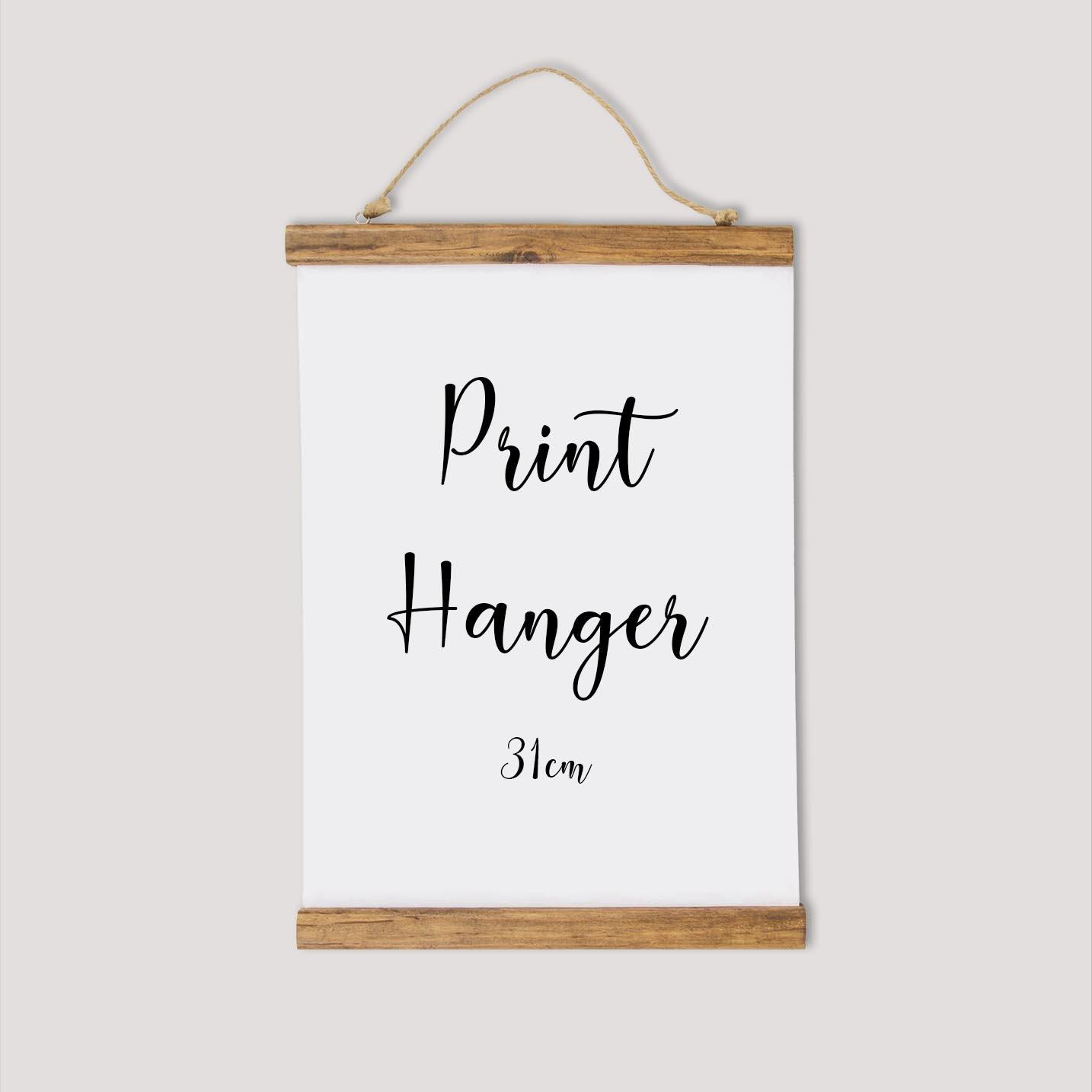 Image of Wooden Print Hanger - 31 cm