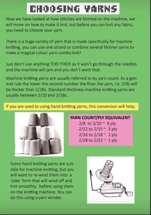 Image of PDF Machine knitting beginners guide
