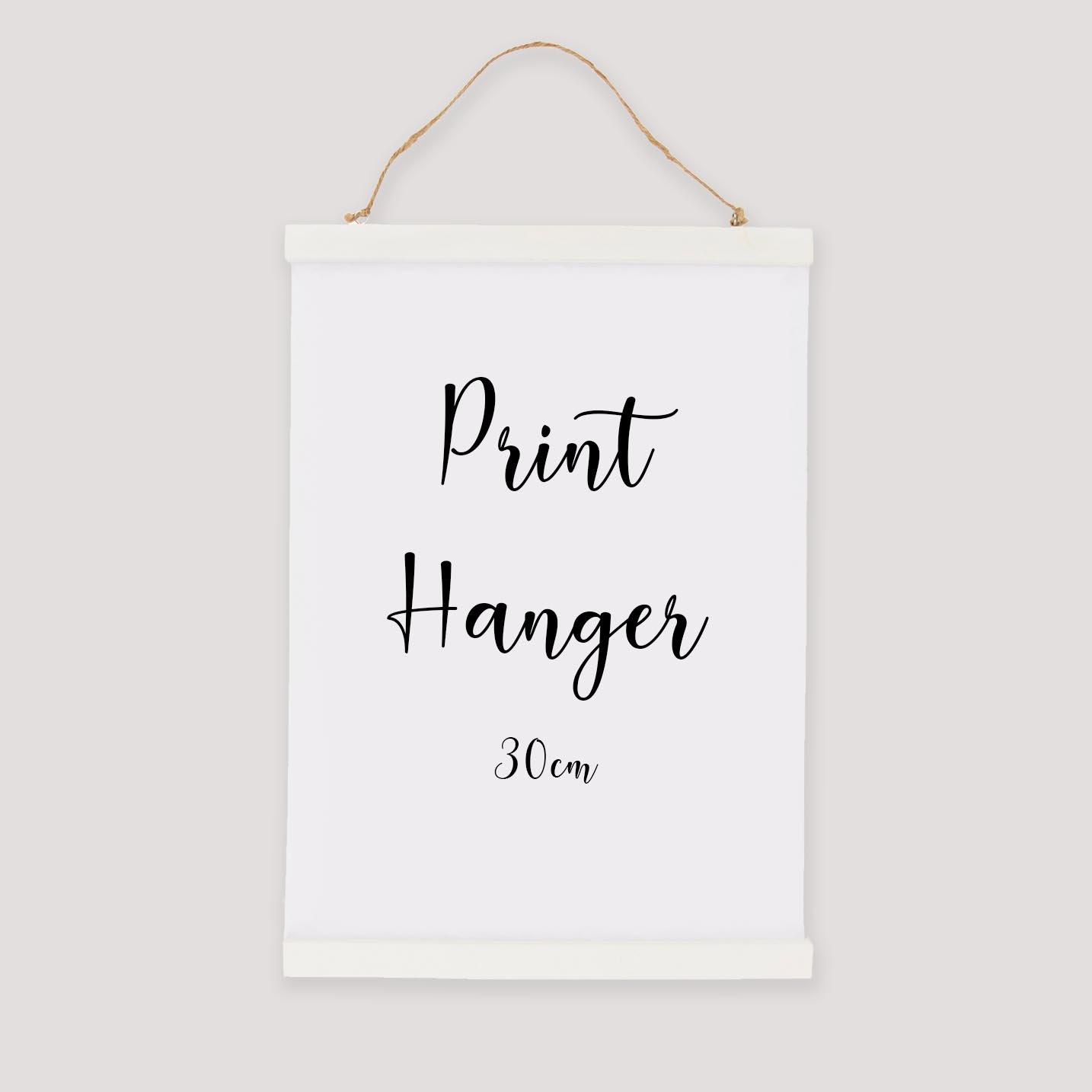 Image of White Print Hanger - 30cm