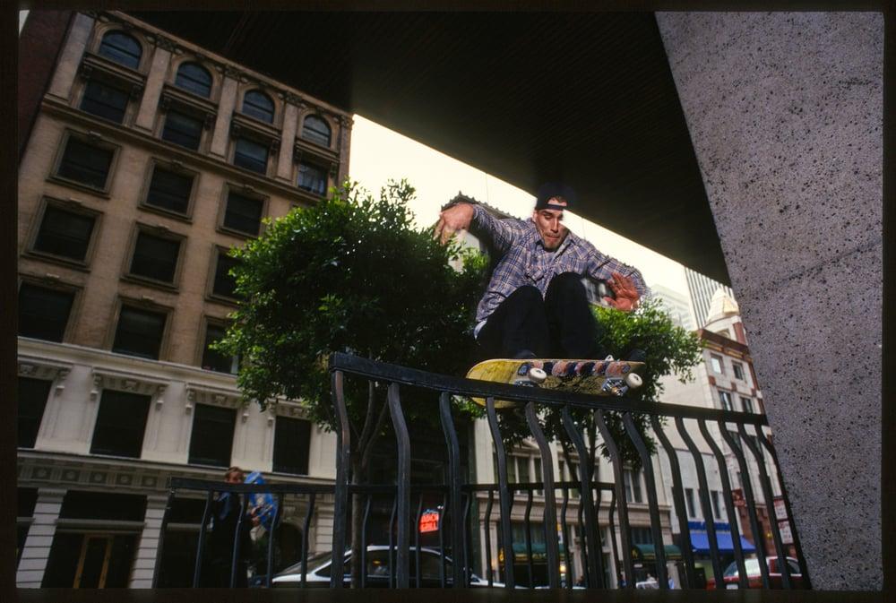 John Cardiel, downtown SF 1995 by Tobin Yelland