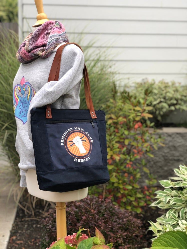 Image of Feminist Knit Club Shoulder Bag