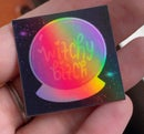 Image 1 of witchy bitch holographic stickers