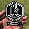 Hexagon Glow-in-the-Dark Sticker