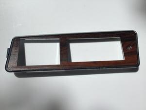 Image of GM 77-90 Seat & Window Driver Side Switch Panel Bezel Housing Woodgrain, NEW.