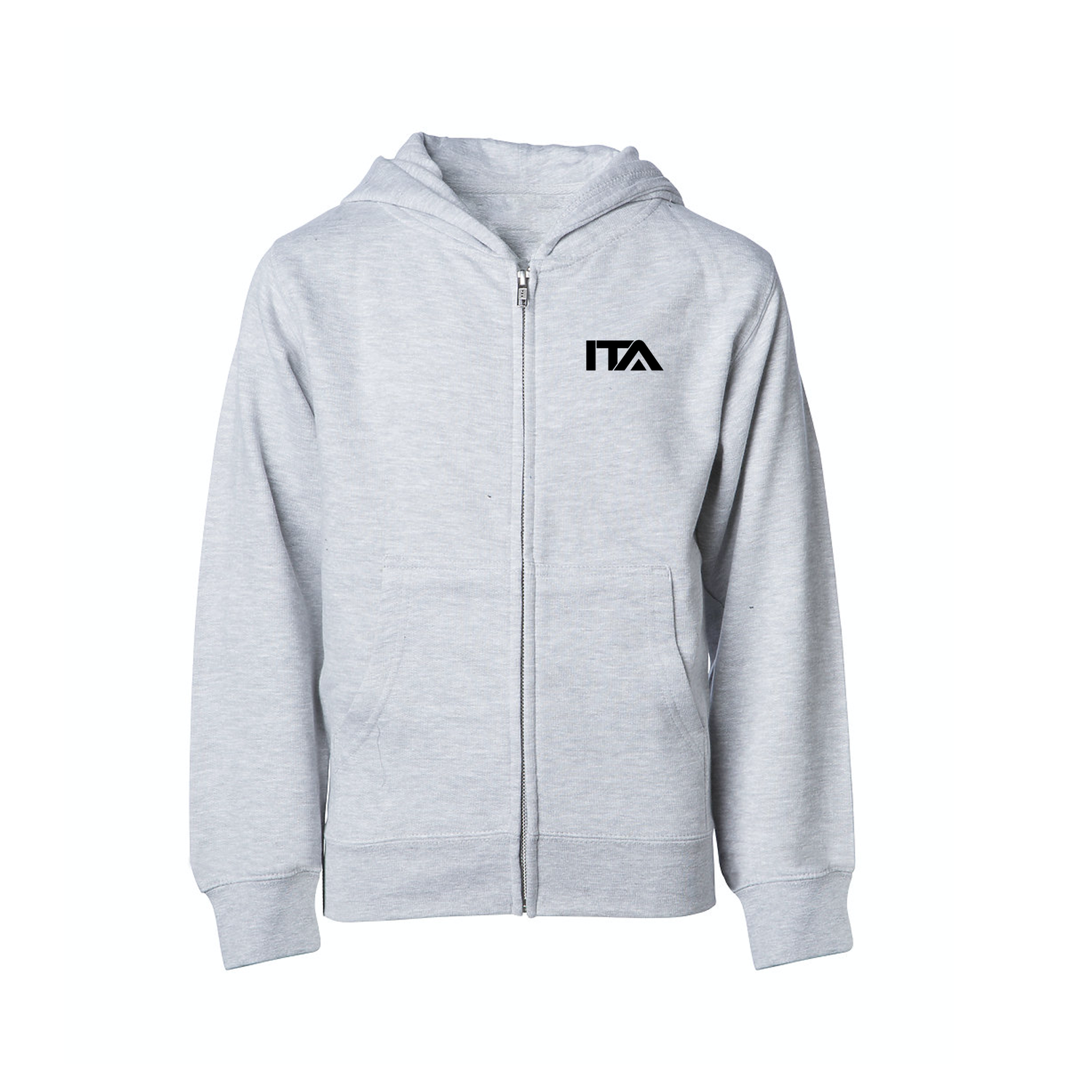 Image of Kids Gray Zip Up Sweater