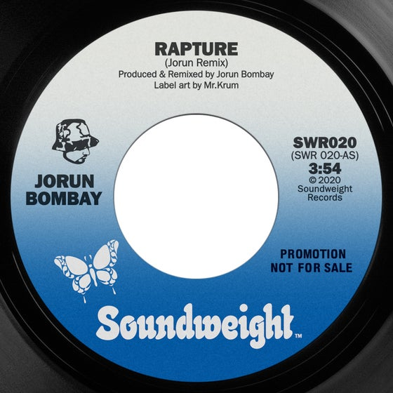 Image of Jorun Bombay - Rapture/Don't Pay Any Fuller (Black Vinyl)