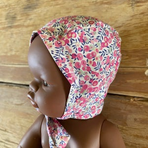 Image of Liberty bonnet to suit 32cm Miniland doll - Wilthshire