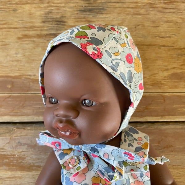 Image of Liberty bonnet to suit 32cm Miniland doll - Betsy P