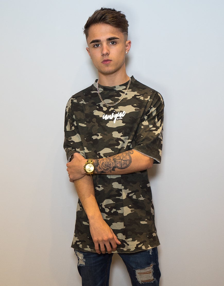 Image of CAMO OVERSIZED TEE