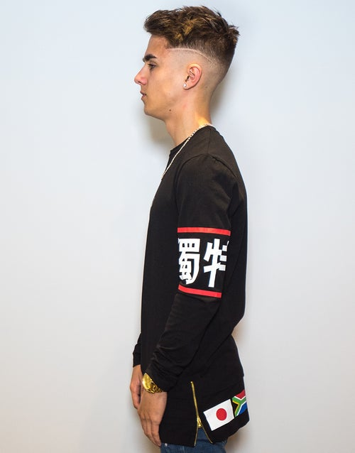 Image of GLOBAL LONG SLEEVE (With flags on lower back)