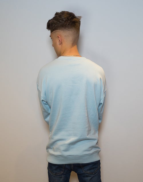Image of BABY BLUE CREW NECK JUMPER