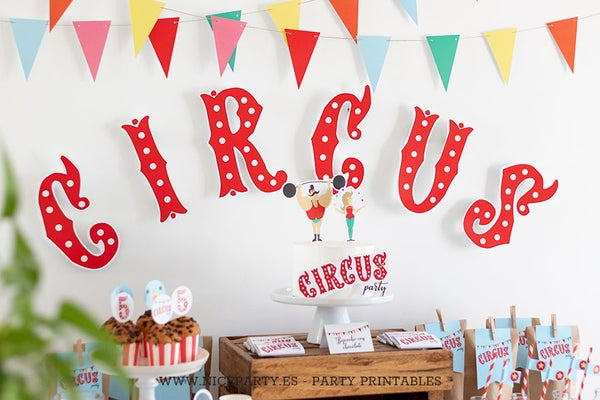 Image of Pack imprimible Circus Party