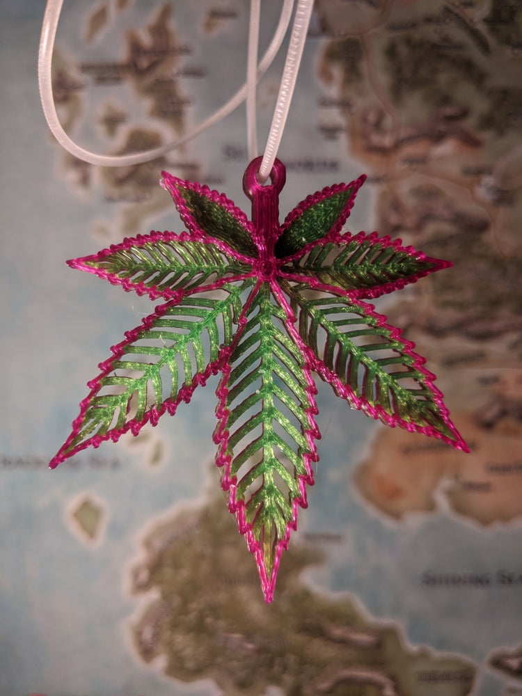 Image of Hemp Leaf Pendant